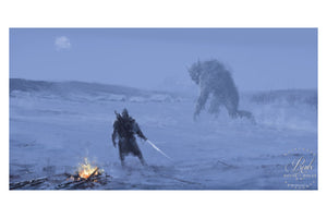 """Silent Night"" by Jakub 'Mr. Werewolf' Rozalski - Fine Art Print"