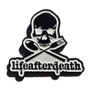 "Dave Navarro as lifeafterdeath ""Disorder Skull"" - 1.5 x 1.5"" Soft Enamel Pin"