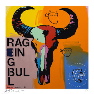 """Raging Bull"" by Johnny Romeo - Limited Edition, Archival Print"