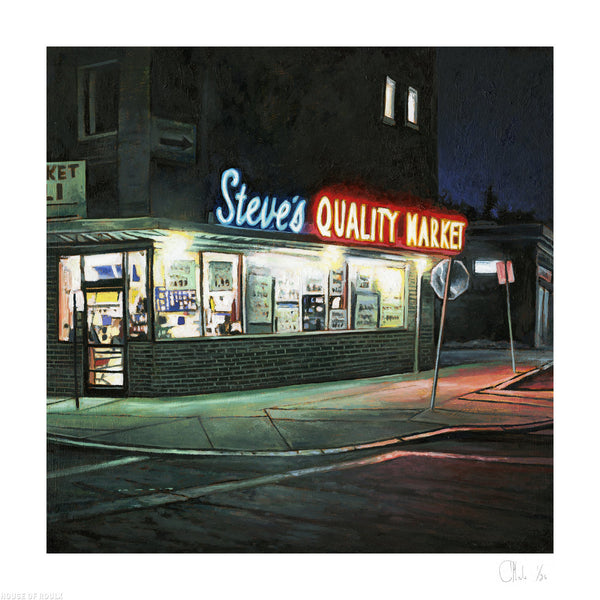 """Steve's Quality Market #2"" by Andrew Houle - Archival Print, Limited Edition of 25 - 12 x 12"""
