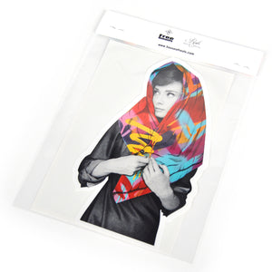 """Hepburn's Humanity"" by Free Humanity - 2 x Die Cut Stickers"