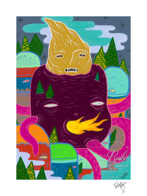 """Strange Things in the Mountain"" by LURK - Limited Edition, Archival Print"