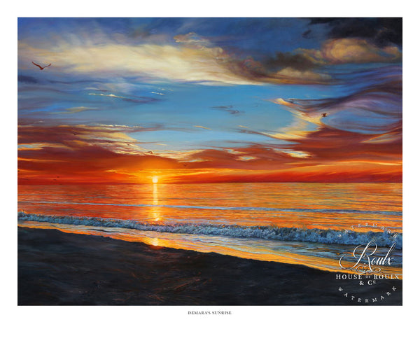 """Demara's Sunrise"" by Lucy McTier - Archival Print"
