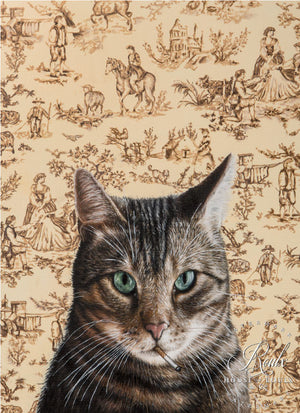 """Chat de Marseille"" by Michael Caines - Original Oil on Canvas"