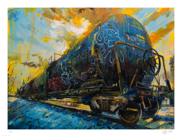"Adam J. O'Day ""Oil Tanker 1"" - Archival Print, Limited Edition of 12 - 18 x 24"""