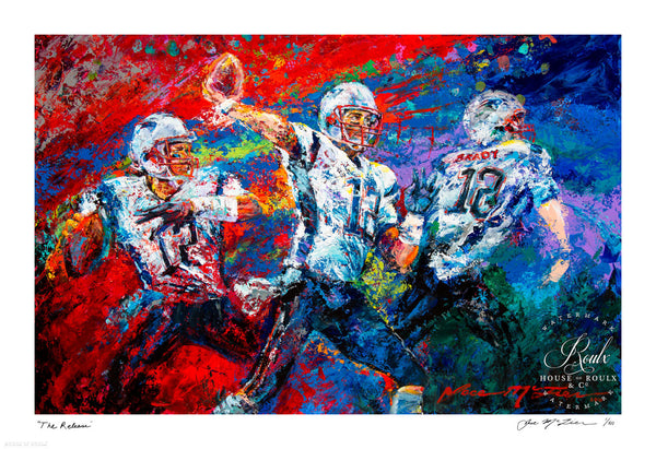 "Tom Brady ""The Release"" (by Jace McTier) - Signed by McTier, Archival Print - 13 x 19"""
