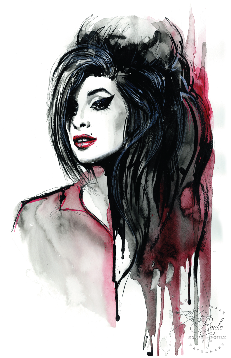 Amy Winehouse By Therese Rosier Limited Edition Fine Art Print