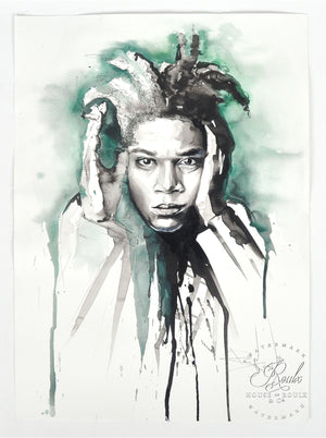 """Jean-Michel Basquiat"" by Therése Rosier - Original Watercolor Painting"