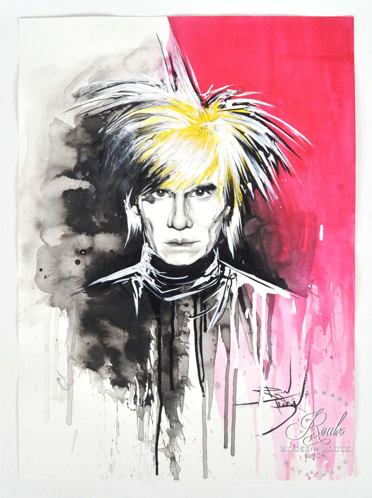 "Therése Rosier ""Andy Warhol"" - Original Watercolor Painting"