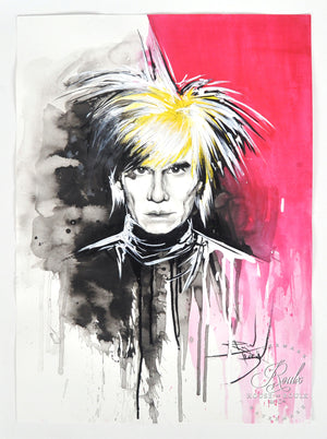 """Andy Warhol"" by Therése Rosier - Original Watercolor Painting"