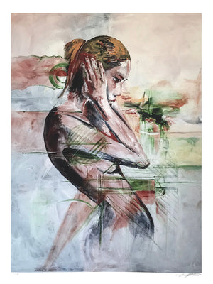 "Jennifer Jean Okumura ""Thinking Out Loud"" - Archival Print, Limited Edition of 25 - 18 x 24"""