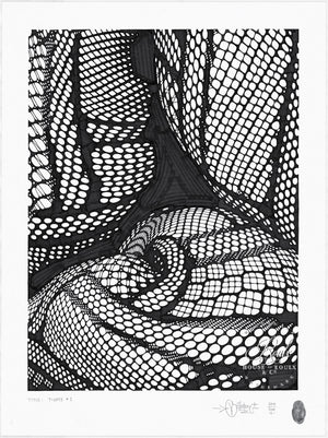 """Tights 1"" by Mike Giant - Original Ink Drawing - 18 x 24"
