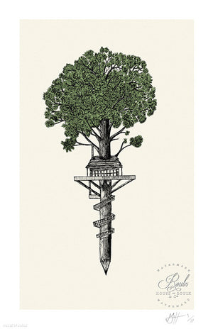 """Treehouse Club"" by Matt Saunders - Limited Edition, Archival Print"