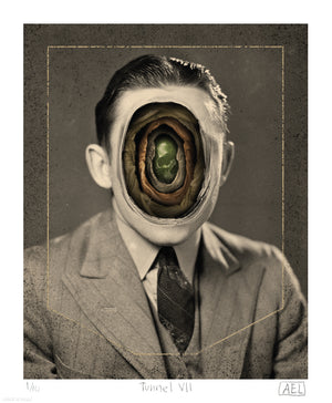 "Alex Eckman-Lawn ""Tunnel VII"" - Limited Edition, Archival Print - 14 x 17"""