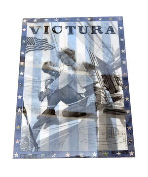 """Victura"" by Robert Mars - Original Mixed Media - Resin Coated on Wood Panel"