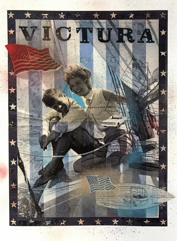 """Victura"" by Robert Mars - Hand-Embellished Unique Print, #2/3"