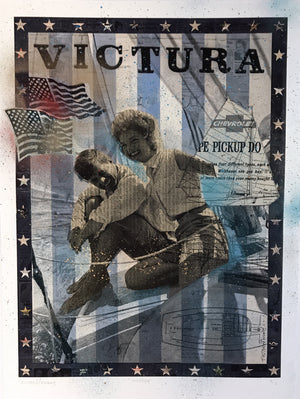 """Victura"" by Robert Mars - Hand-Embellished Unique Print, #3/3"