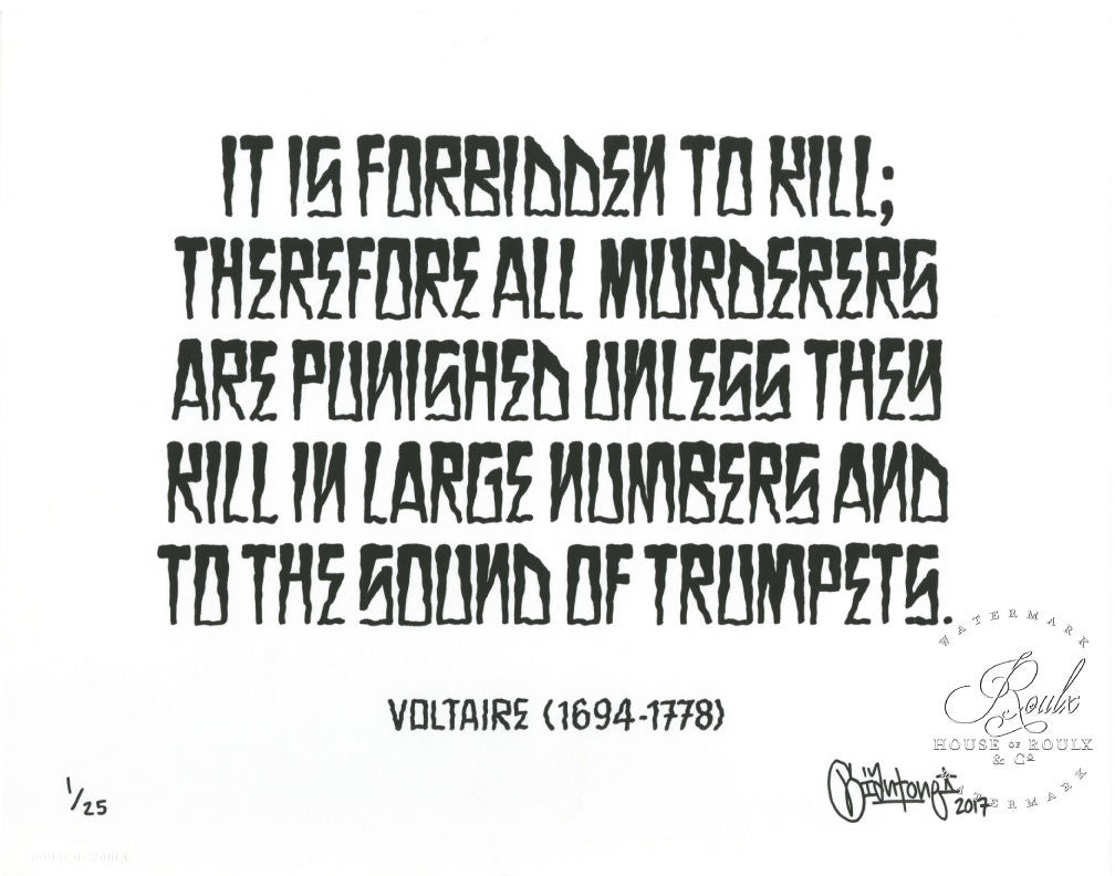 "Mike Giant ""Trumpets (Voltaire)"" - Limited Edition, Archival Print - 11 x 14"