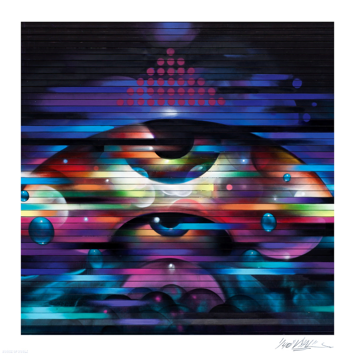 "Vyal One  ""Rapid Eye Movement"" - Limited Edition, Archival Print - 17 x 17"""