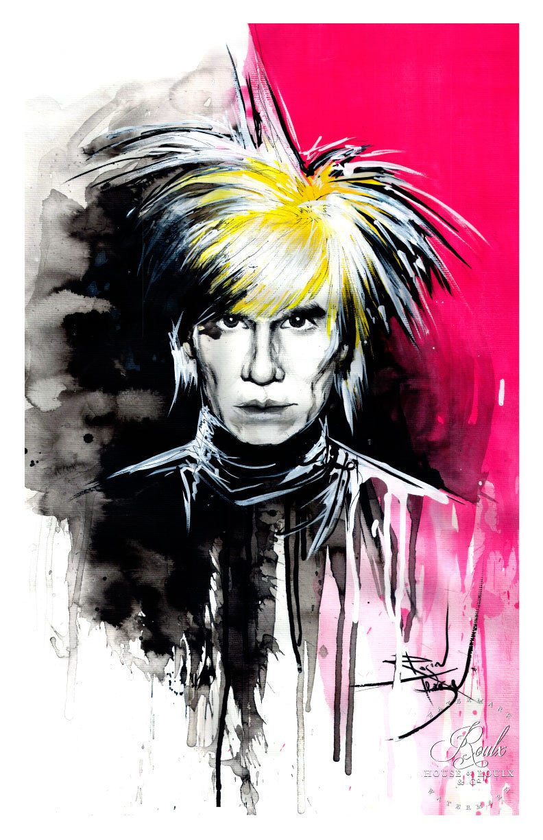 andy warhol by therése rosier limited edition fine art print
