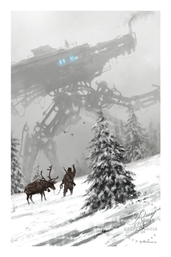 """1920 - Winter Walker"" by Jakub 'Mr. Werewolf' Rozalski - Fine Art Print"