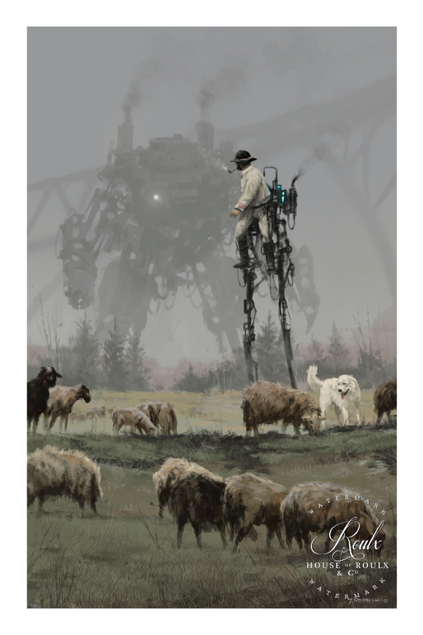 """1920 - Shepherd"" by Jakub 'Mr. Werewolf' Rozalski - Fine Art Print"