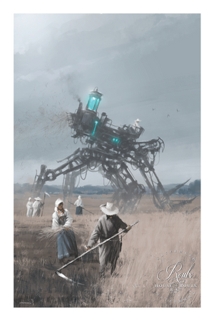 """Telsa Workers"" by Jakub 'Mr. Werewolf' Rozalski - Fine Art Print"