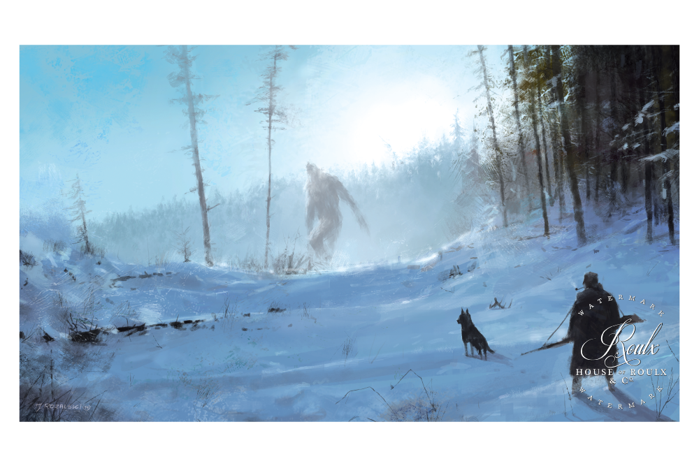 "Mr. Werewolf (Jacob Rozalski) ""Ancient Yeti"" - Fine Art Print"