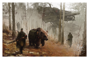 """1920 - Into the Wild"" by Jakub 'Mr. Werewolf' Rozalski - Fine Art Print"