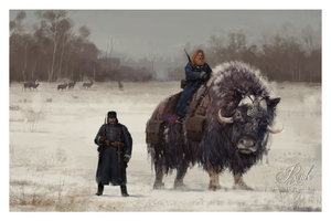 """1920 - Bjorn and Mox"" by Jakub 'Mr. Werewolf' Rozalski - Limited Edition, Fine Art Print"