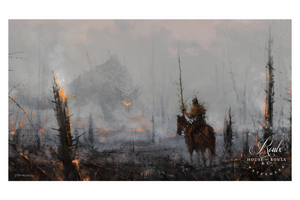 """Last of the Wooden Knights"" by Jakub 'Mr. Werewolf' Rozalski - Fine Art Print"