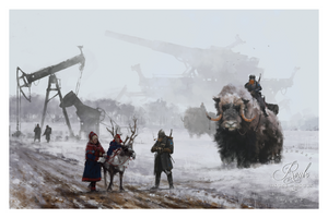 """1920 - Dad at Work"" by Jakub 'Mr. Werewolf' Rozalski - Limited Edition, Fine Art Print"