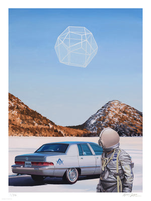 "Scott Listfield ""Winter Moon"" - Archival Print, Limited Edition of 50 - 18 x 24"""