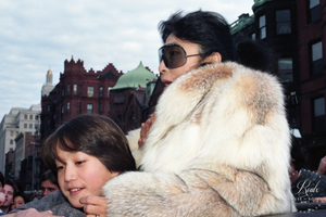 Yoko Ono & Sean Lennon (by Peter Warrack) - Limited Edition, Archival Print