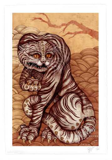 "ZSO/Sara Blake ""Folk Tiger"" - Archival Print, Limited Edition of 12 - 13 x 19"""