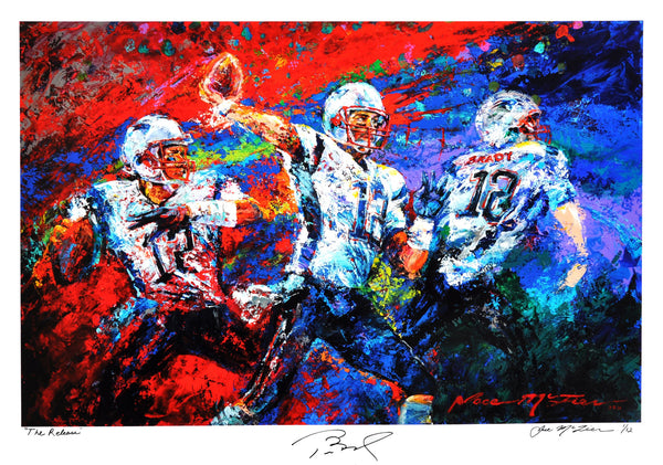 "Tom Brady ""The Release"" (by Jace McTier) - Signed by Brady & McTier, Archival Print - 24 x 36"""