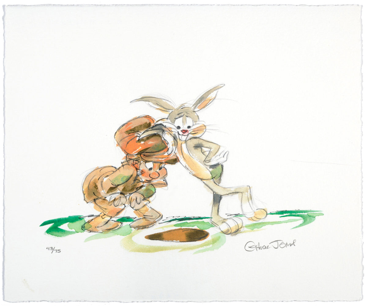"Chuck Jones - ""Bugs Bunny"" - Signed Limited Edition Print - 12.5 x 10.5"""
