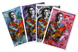 """Frida Kahlo"" BY FREE HUMANITY - 4 x Vinyl Stickers"