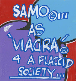 "Al Diaz & Nic 707 ""SAMO©…as Viagra 4"" - Original Paint on Plexiglass - 10 x 11"""
