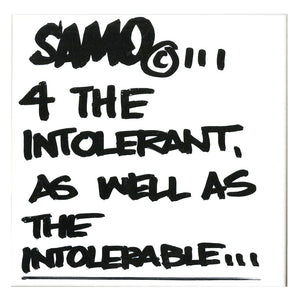"Al Diaz ""SAMO©…"" - Original Ink on Ceramic Tile, Single - 6 x 6"""