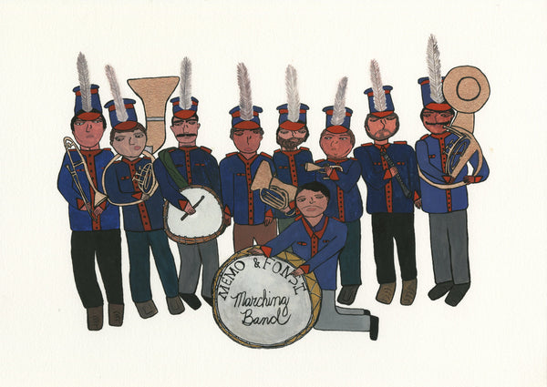 """Band"" by Jen Uman - Limited Edition, Archival Print"