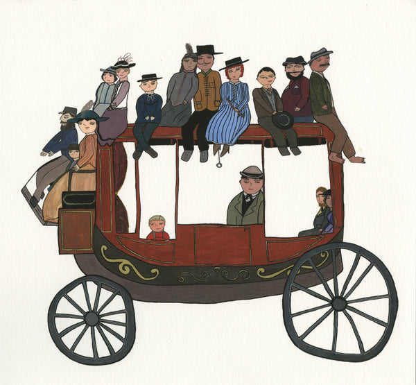 """Stagecoach"" by Jen Uman - Limited Edition, Archival Print"