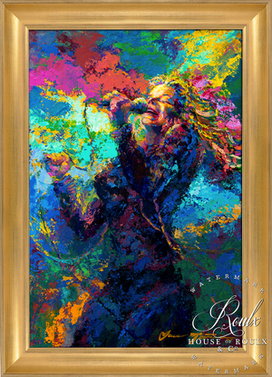 "Janis Joplin ""A Flower in the Sun"" (by Jace McTier) - Original Acrylic Painting"