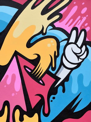 """Dueces"" by Matt Corrado - Original Painting on Canvas - 18 x 24"""