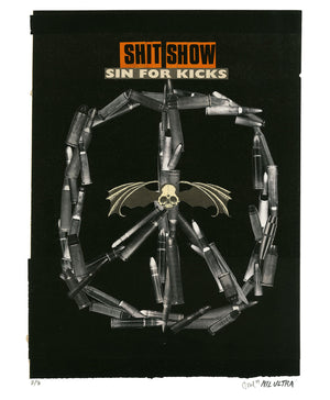 "Nil Ultra ""Shit Show"" - Hand-Embellished Variant, # 2/3 - 14 x 17"""