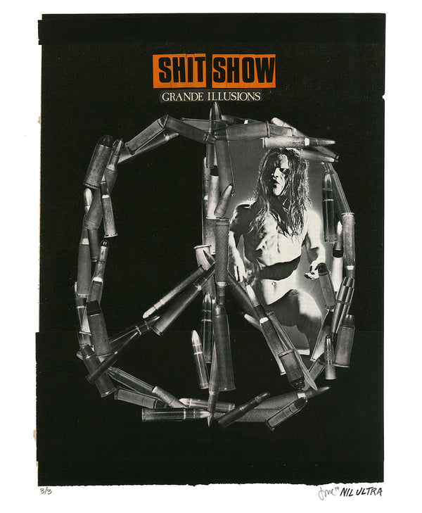 "Nil Ultra ""Shit Show"" - Hand-Embellished Variant, # 3/3 - 14 x 17"""