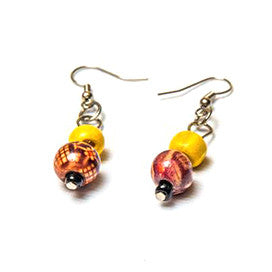 Two worlds earrings - Gold