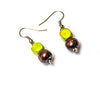 Two worlds earrings - Night and Green