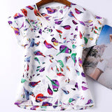 Colorful Birdy Blouse