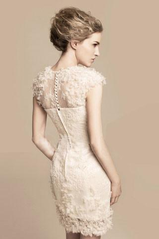 DIANA ELEGANT IVORY DRESS - tavoosfashion